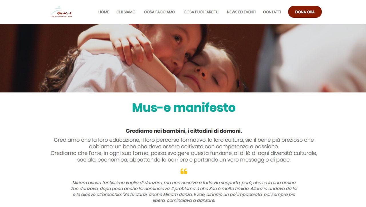 nuovo sito mus-e